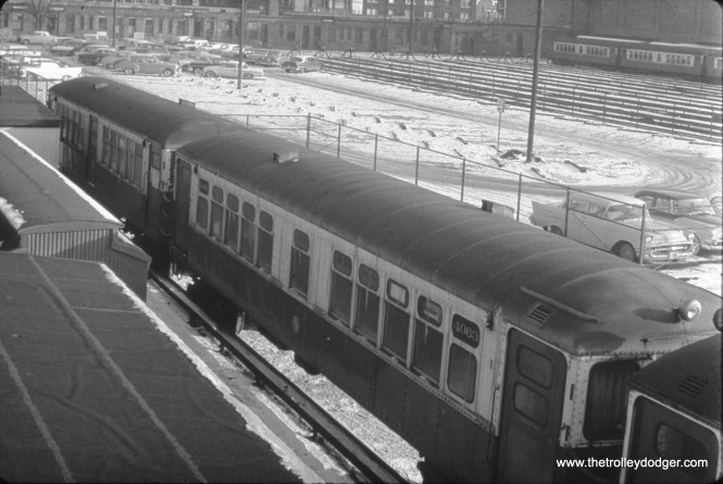 CTA 4063 at Kimball and Lawrence on January 31, 1958.