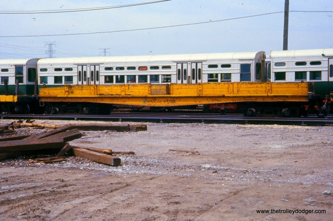 CTA Flatcar S-329 at Skokie Shops on May 21, 1977.