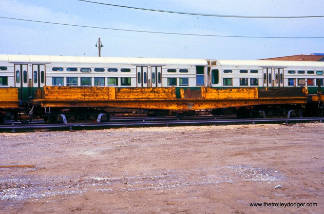 CTA Flatcar S-324 at Skokie Shops on May 21, 1977.