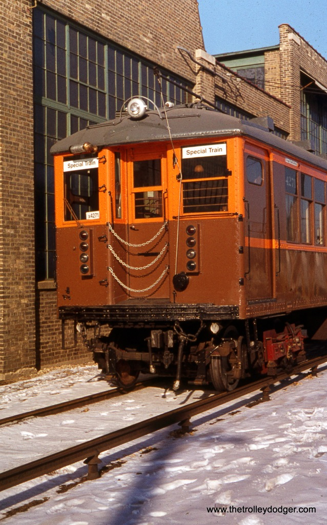 CTA 4271 at Skokie Shops on December 11, 1976.