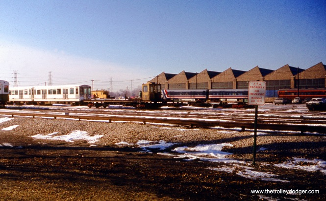 The east side of Skokie Shops on December 11, 1976.