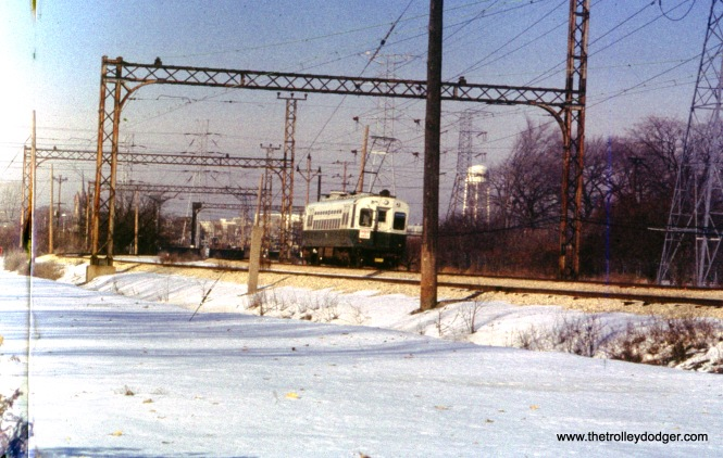 The CTA Skokie Swift (today's Yellow Line) on December 11, 1976.