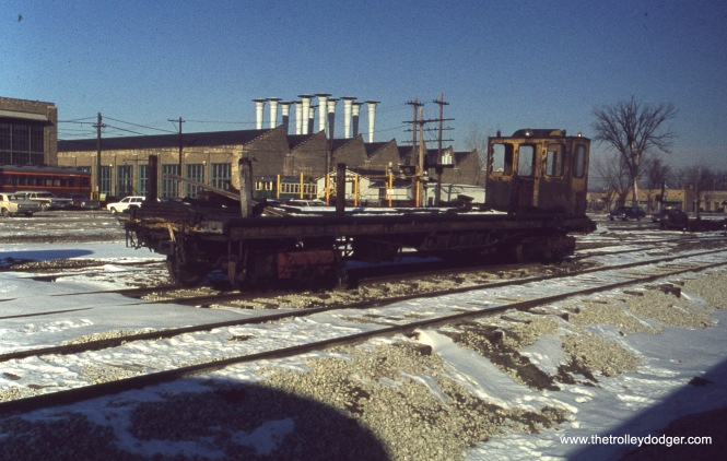 CTA Wheel Car S-313 at Skokie Shops on December 11, 1976.