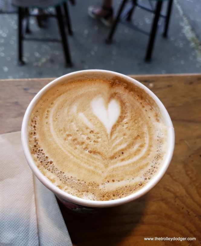 Coffee love.  A cappuccino from Collectivo, across the street from the Public Market.