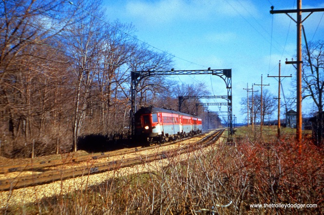 A train of Silverliners on April 20, 1962. (Joseph Canfield Photo)
