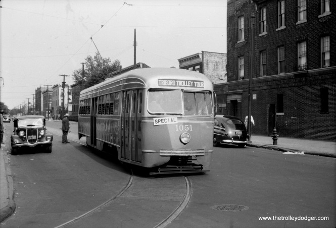 Brooklyn and Queens Transit PCC 1051 on the