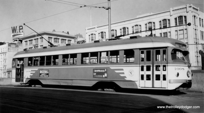 SF Muni double-end PCC 1008.