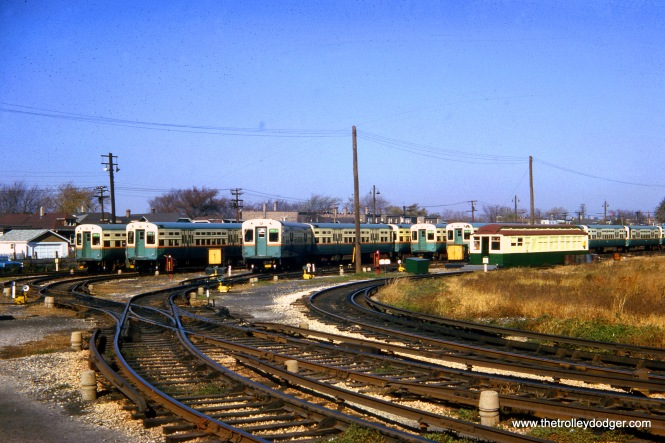 What I presume is the Douglas Park yard on October 25, 1964.