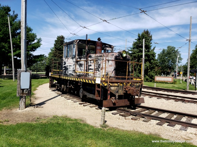An old diesel switching engine.