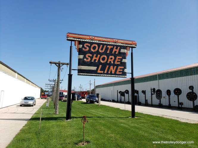This classic South Shore Line sign came from the Gary station.