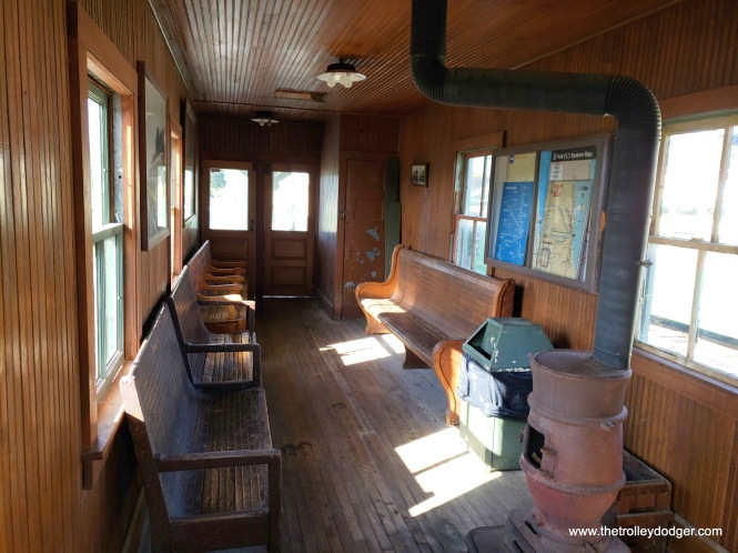 """The interior of the 50th Avenue (Cicero) """"L"""" station, which was moved from the Douglas Park (today's Pink Line) branch to IRM."""