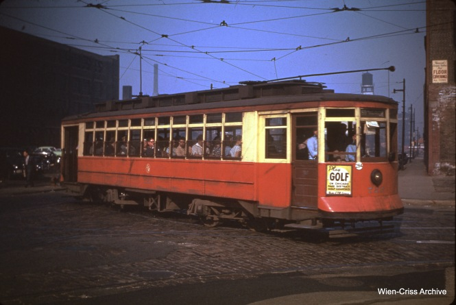 CTA 723 at Clinton and Harrison on July 11, 1950.