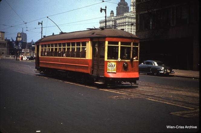 CTA 1711 at State and Wacker on July 9, 1950.