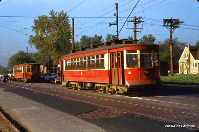 CTA 397 at Kedzie and 66th Place on May 13, 1954.