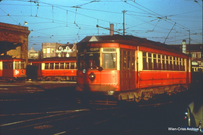 CTA 207 is at Kedzie and Jackson on April 19, 1951.