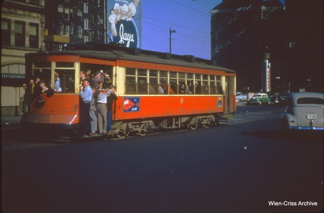 CTA 436 is on Roosevelt east of Wabash on October 29, 1950.