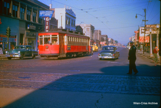 CTA 141 is at 63rd and Western on May 20, 1953.
