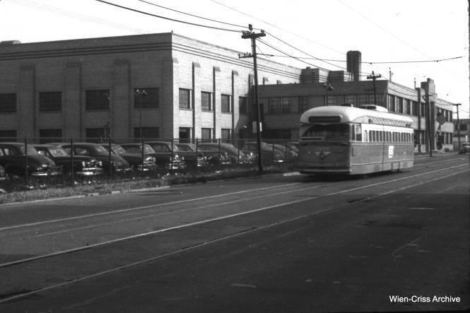 CTA 7271 at 63rd and Linder on November 7, 1952.