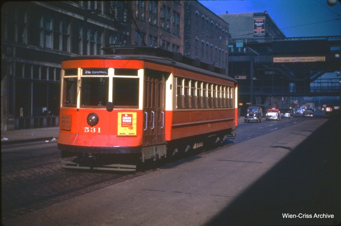 CTA 531 at Clinton and Lake, October 17, 1950.