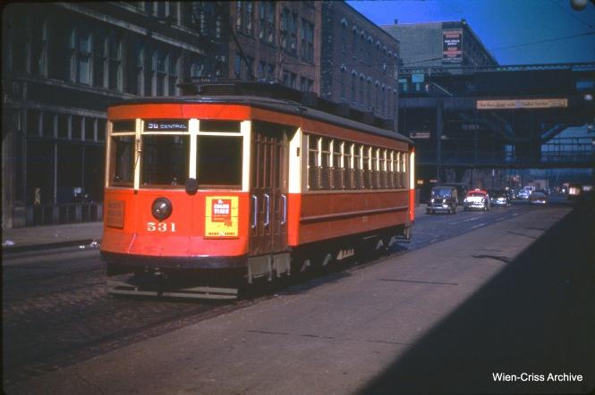 CTA 531 at Clinton and Lake, October 17, 1950.