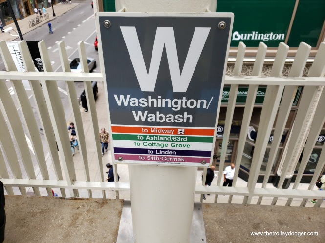 The ticketed trips began and ended at Washington and Wabash, CTA's newest Loop station, which replaced two others.