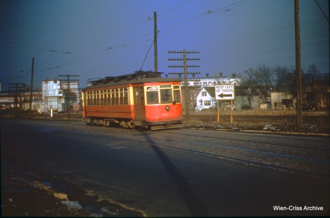 CTA 5248 at Vincennes and 105th on November 27, 1949. (Wien-Criss Archive)