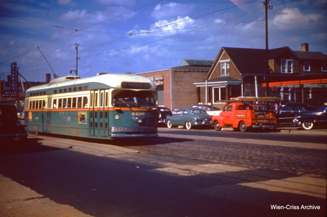CTA 4408 on Western at 66th on July 16, 1951. (Wien-Criss Archive)