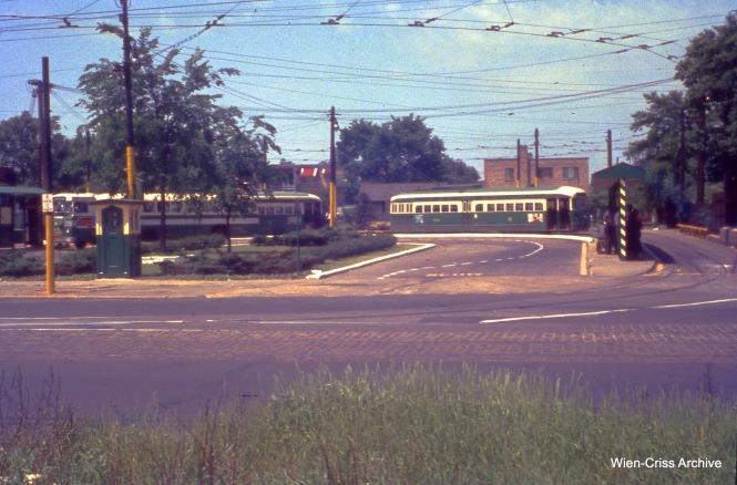 The Western-Berwyn loop on June 10, 1956. (Wien-Criss Archive)