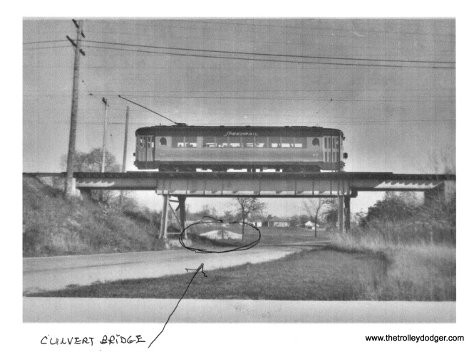 Showing culvert bridge in 1949 photo