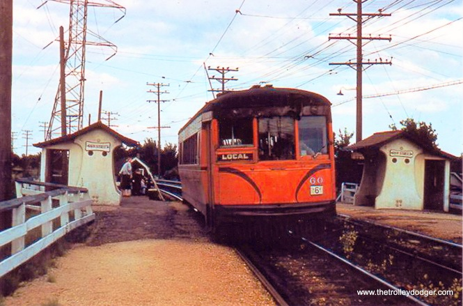 Speedrail 60 WB at 68th St. ca. Summer, 1950. L. Sakar coll.