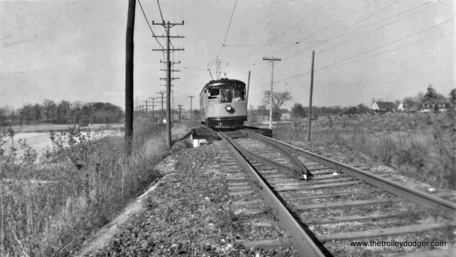 SR 60 on Brookdale Dr. bridge 10-16-49 inaugural fan trip. Herb Danneman coll.
