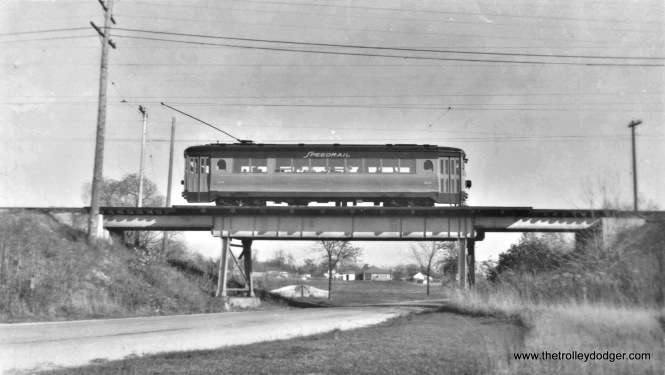 SR 60 posed on Brookdale Bridge from Brookdale Dr. 10-16-49