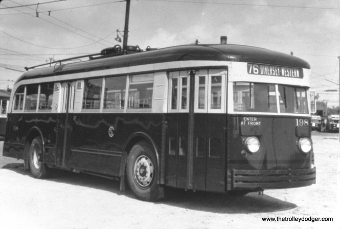 CSL trolley bus 198. (William Shapotkin Collection)