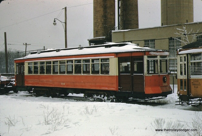 This picture of CTA 144, at the Illinois Electric Railway Museum at its original location in North Chicago, was taken on February 21, 1960. It's very interesting, but we already posted a very similar photo before, so we did not bid on this one.