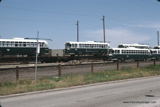 CTA trolley buses- are they coming or going? A June 25, 1974 date indicates they are going, towards Mexico and additional service there. This was just over a year since they last ran in Chicago.
