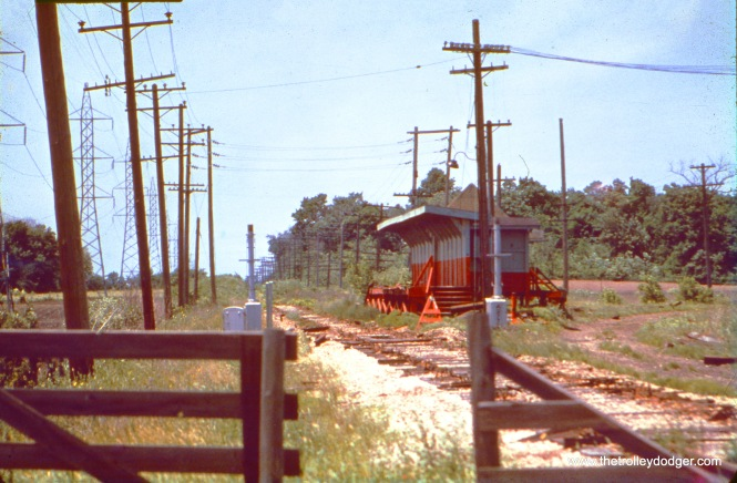 CA&E's Batavia Junction in June 1963. Tracks have been removed by this time. We are looking down the Aurora branch, while Batavia trains curved off here to the right.