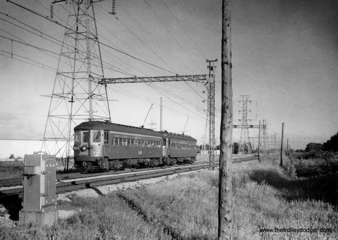 NSL car 717 heads up a two car train on the Skokie Valley Route. (Photo by S. K. Bolton, Jr.)