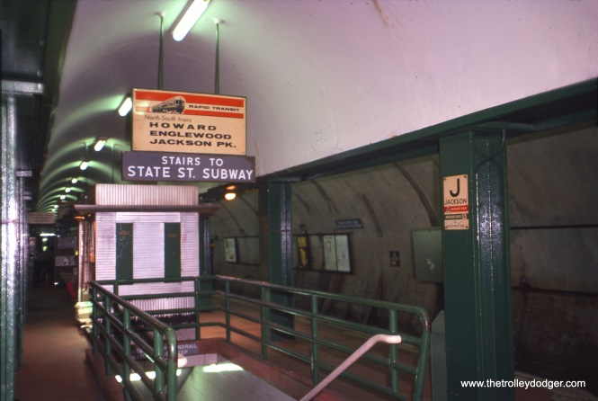 The Jackson station on the Dearborn Street Subway on August 8, 1974.