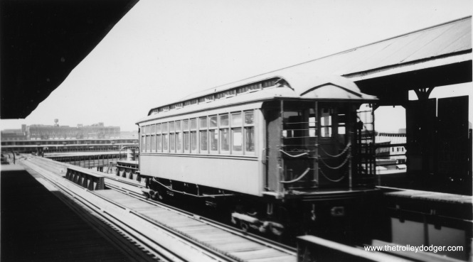 Gate car #204 at Halsted on the Stock Yards branch.