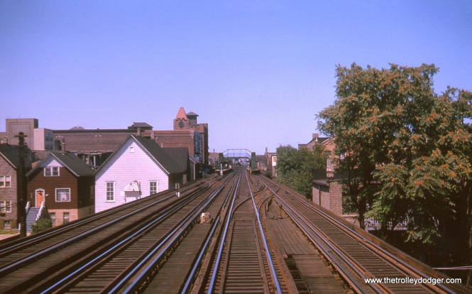 Just south of Belmont, looking north, in August 1963.