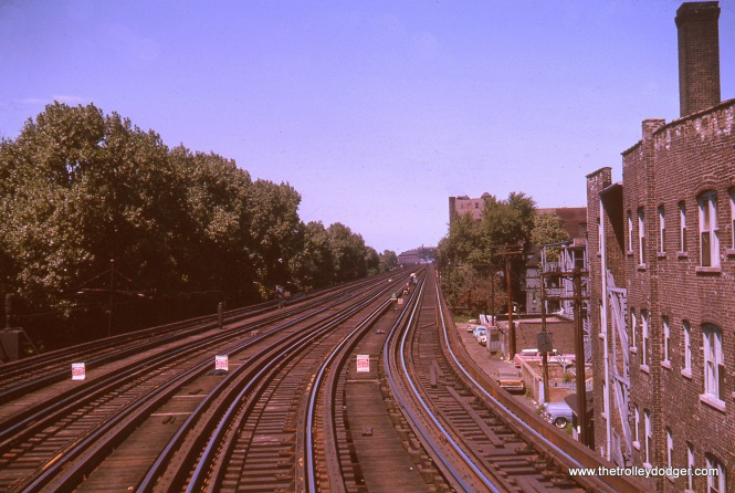 Just north of Sheridan, looking north towards Wilson, in August 1963.