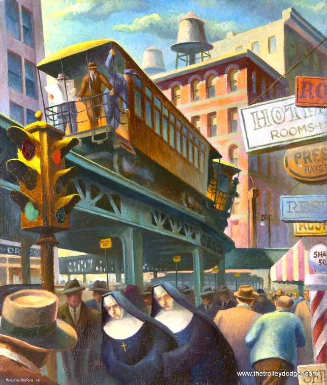 City Scene with Nuns (1947) by Robert W. Addison, in the collection of the Art Institute of Chicago.