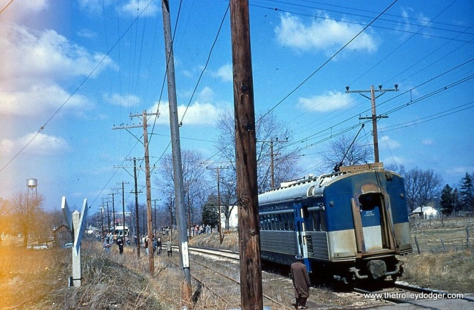 Looks like a photo stop on the Illinois Terminal in 1956. Perhaps the final day for these lines?