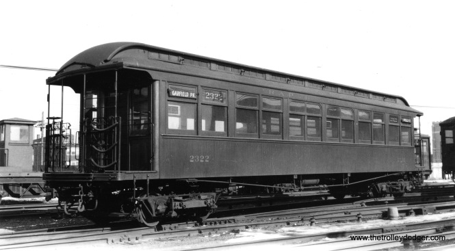 CRT 2322 on February 12, 1939. It was built for the Met in 1901 by American Car and Foundry. (La Mar M. Kelley Photo)