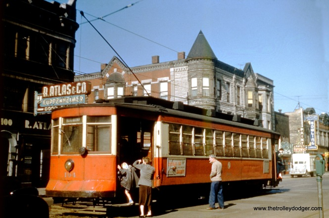 CTA 194 at Halsted and 64th in 1952.