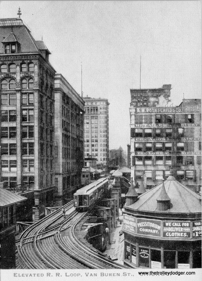 Another early view of the Loop, again at Wabash and Van Buren, this time looking west.