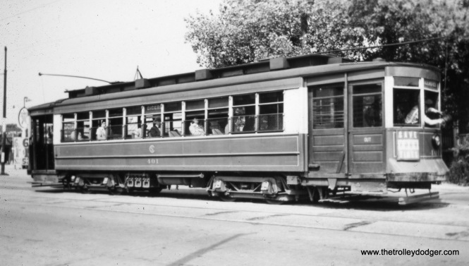 CSL 401 at Cicero and Belden in May 1946.