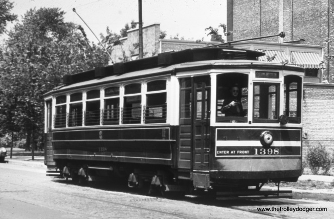 CSL 1398 at 21st and Marshall Boulevard on July 6, 1946.