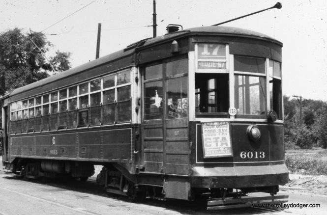 CSL 6013 at Kedzie and Bryn Mawr in 1946.