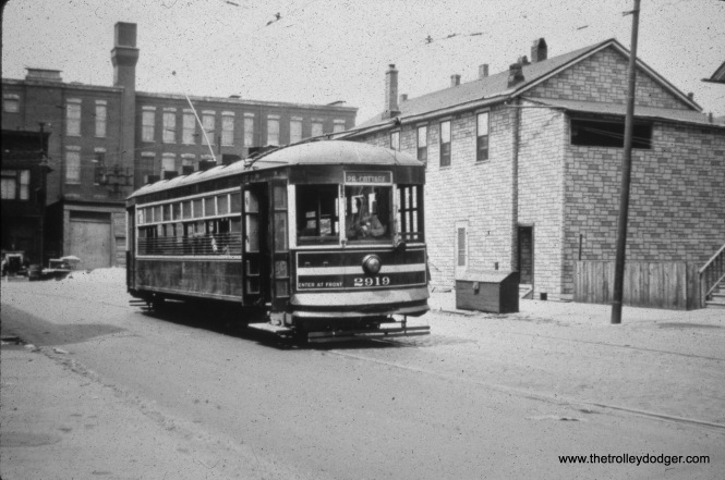 CSL 2919 at 26th and Halsted in 1946.